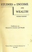 Studies in Income and Wealth
