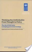 Thinking the Unthinkable: From Thought to Policy